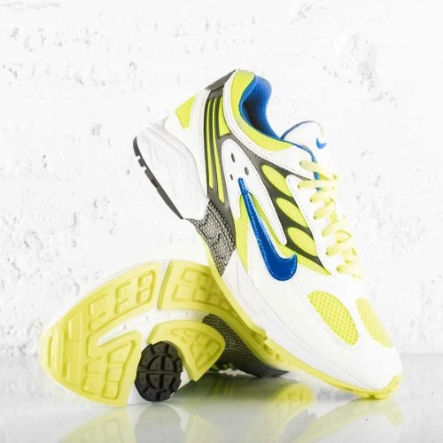 NIKE AIR GHOST RACER WHITE HYPER BLUE NEON YELLOW (2)