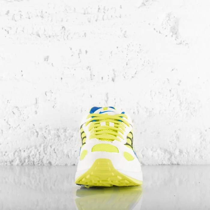 NIKE AIR GHOST RACER WHITE HYPER BLUE NEON YELLOW (6)