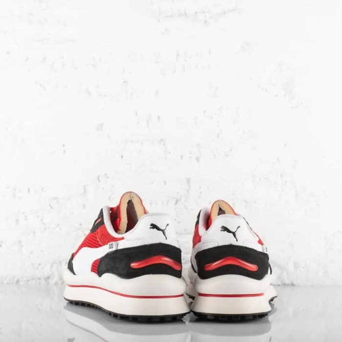 PUMA STYLE RIDER STREAM ON TRAINERS HIGH RISK RED (4)