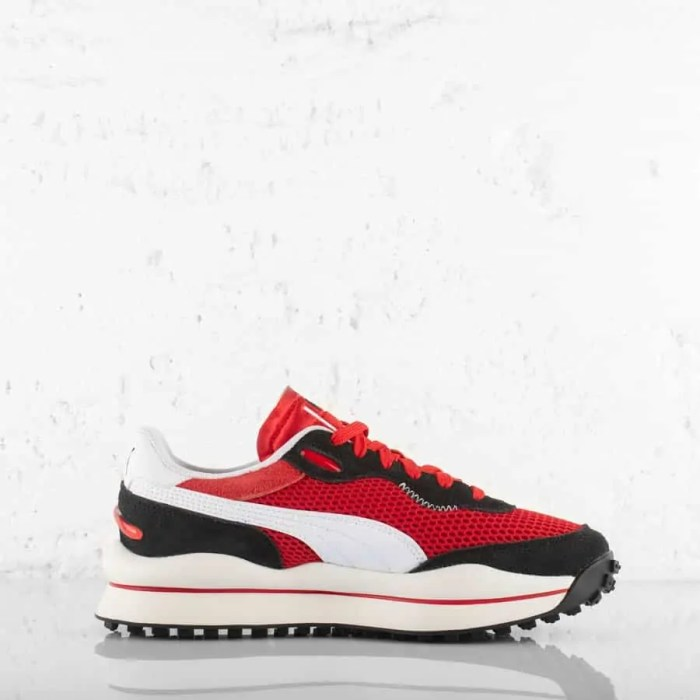PUMA STYLE RIDER STREAM ON TRAINERS HIGH RISK RED (5)