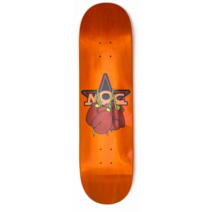 MOC BOXING GLOVES SKATEBOARD DECK ORANGE
