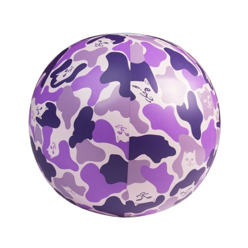 RIPNDIP BEACH BUM BEACH BALL PURPLE CAMO 2