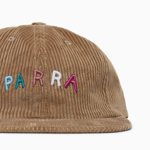 PARRA FONTS ARE US 6 PANEL HAT CAMEL 2