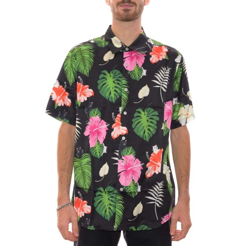 RIPNDIP MAUI NERM BUTTON UP SHIRT BLACK