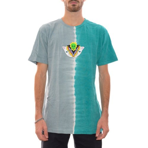 RIPNDIP SPLITTING HEADS TEE TEAL GREY SPLIT DYE