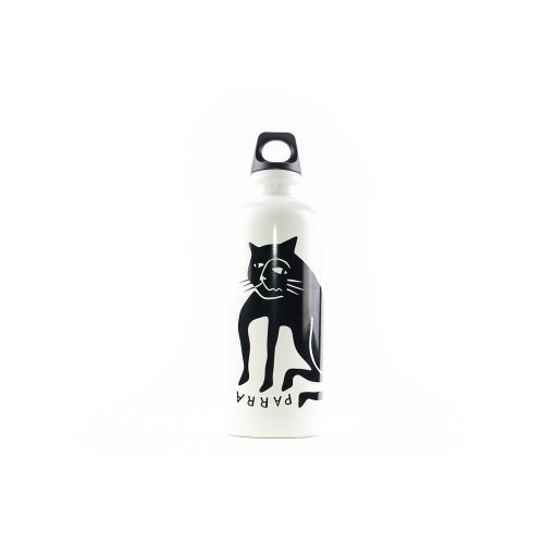 PARRA CAT SIGG BOTTLE WHITE