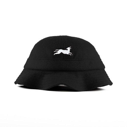 PARRA JUMPING FOX BELL BUCKET HAT BLACK
