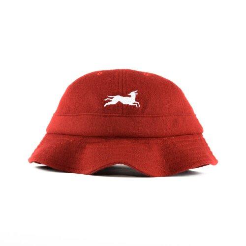 PARRA JUMPING FOX BELL BUCKET HAT RED