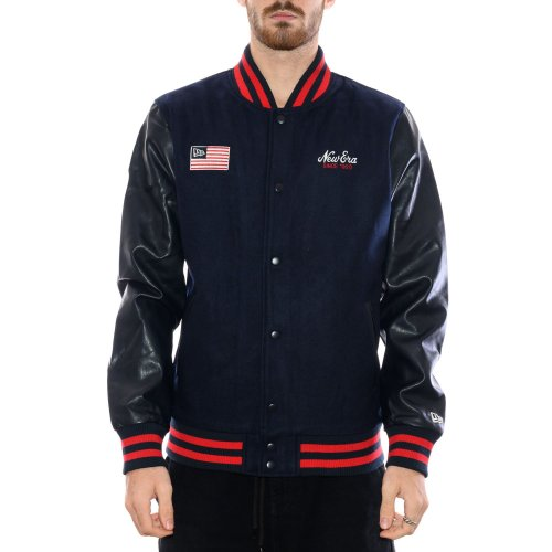 NEW ERA HERITAGE FLAG VARSITY JACKET NAVY
