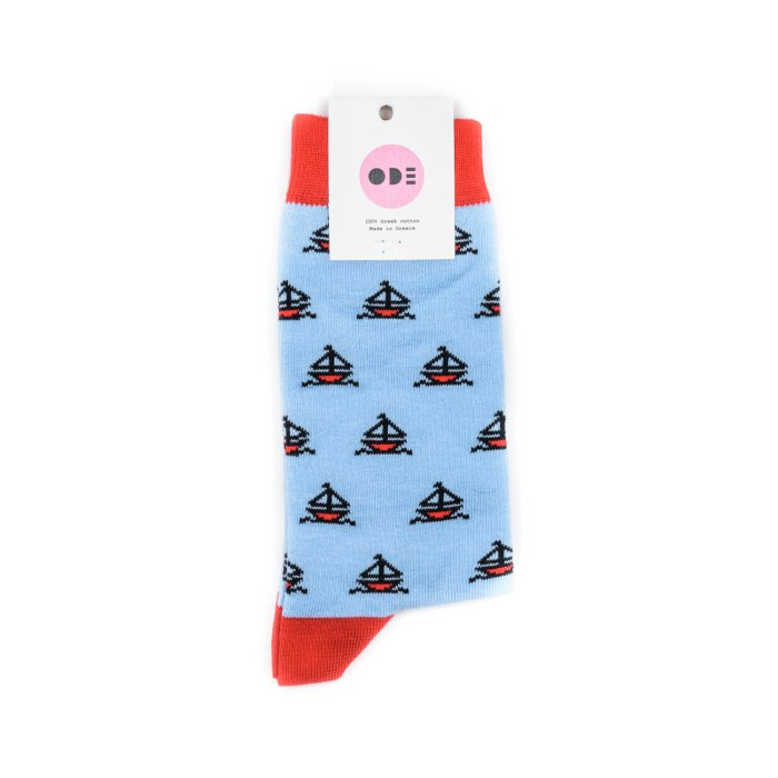 ODE TO SOCKS SAILOR STORIES WASHED BLUE RED