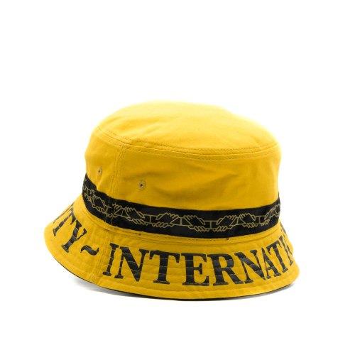 PASS~PORT INTER SOLID REVERSABLE BUCKET HAT MUSTARD 2