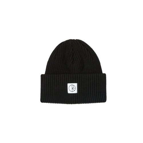 POLAR DOUBLE FOLD MERINO BEANIE BLACK