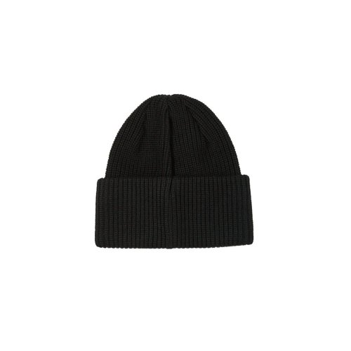 POLAR DOUBLE FOLD MERINO BEANIE BLACK 2