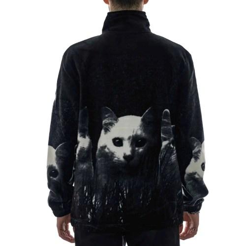 RIPNDIP FIELD OF CATS SHERPA JACKET BLACK 2