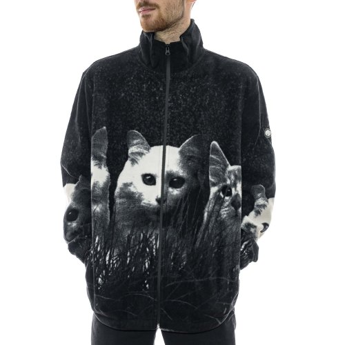 RIPNDIP FIELD OF CATS SHERPA JACKET BLACK