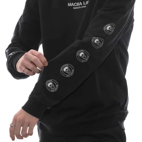 MACBA LIFE TWO TONES CREWNECK BLACK 2