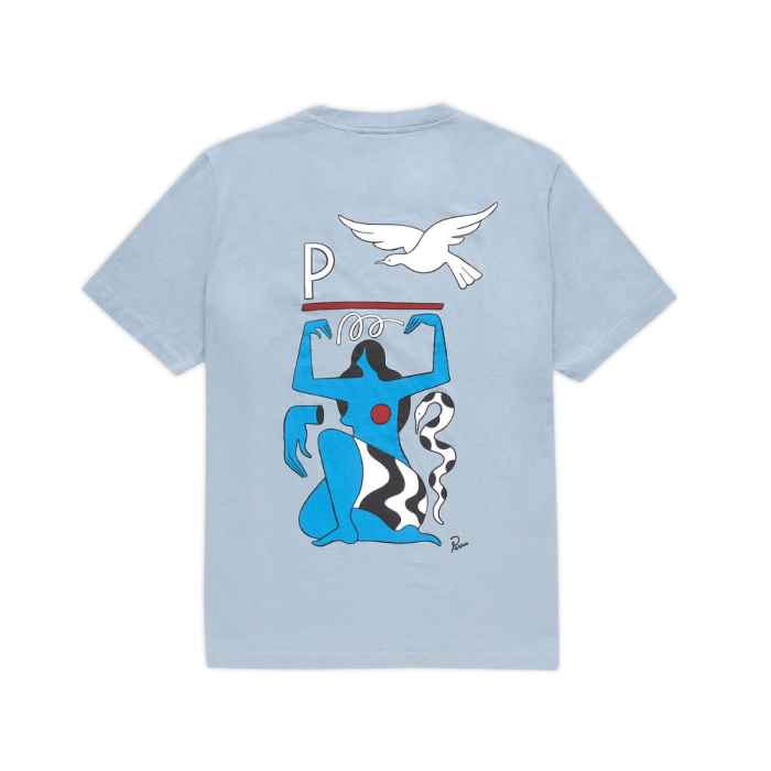 PARRA MOTHER NATURE TEE DUSTY BLUE 2