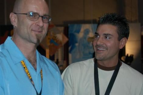 Jon_Dough,_Michael_Stefano_at_2005_AEE_Thursday_2