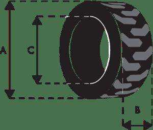 pneumatico codice M3828T, battistrada MT