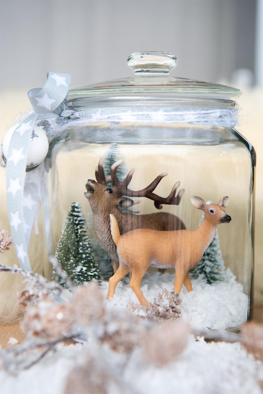 Mini & Stil, Mama Blog Schweiz, Schleich Tiere im Glas, Basteln, Winter
