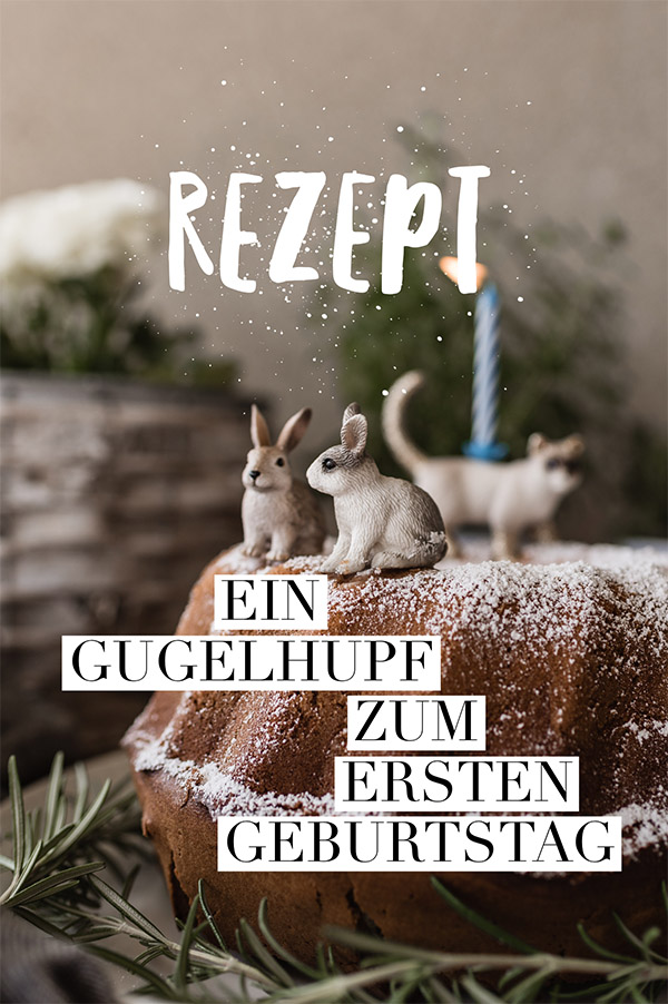 Quick, easy and stylish: a bundt cake for a children's birthday party.  A simple recipe and an animal decoration #gugelhupf #rezept #kindergeburtstag #kindergeburtstagskuchen