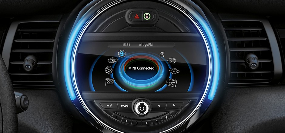 mini cooper UI display