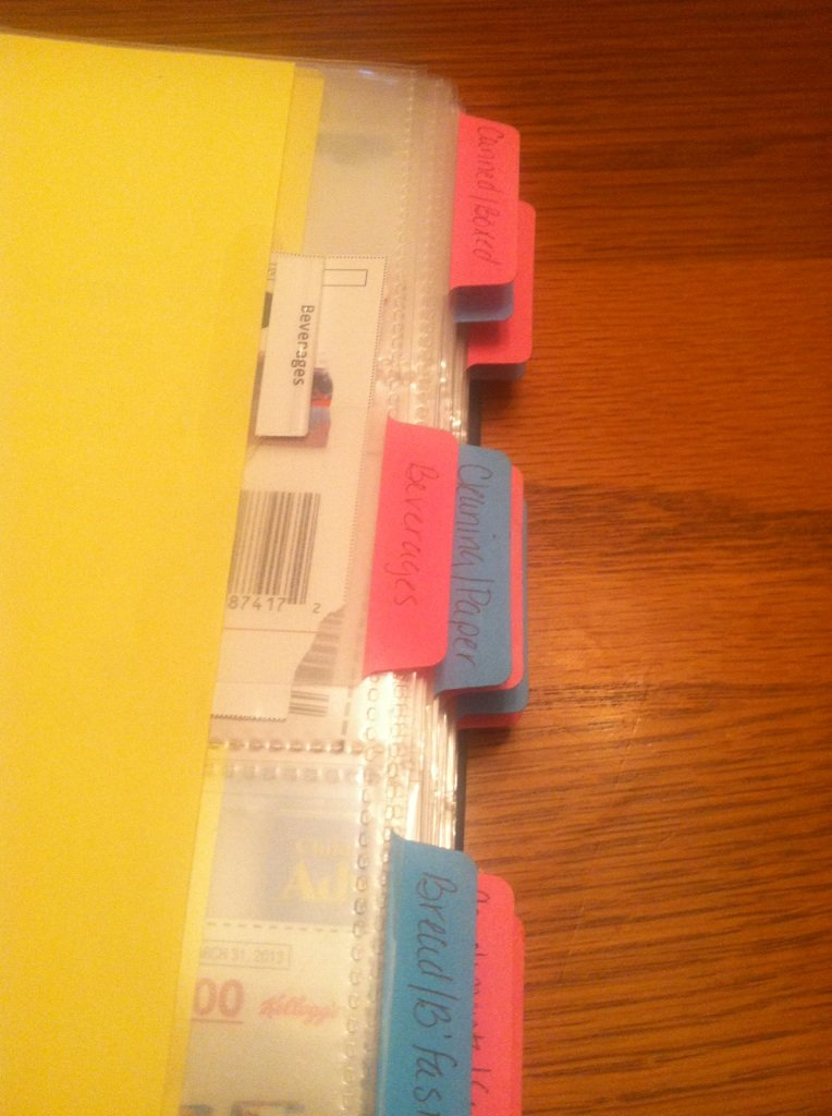 Tabs for coupon book