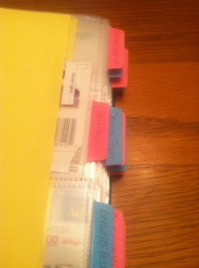 Coupon Book Tabs