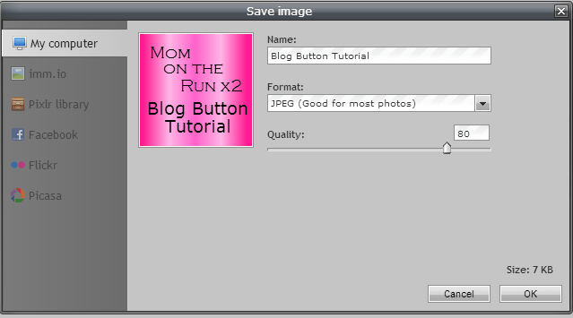 blog button save