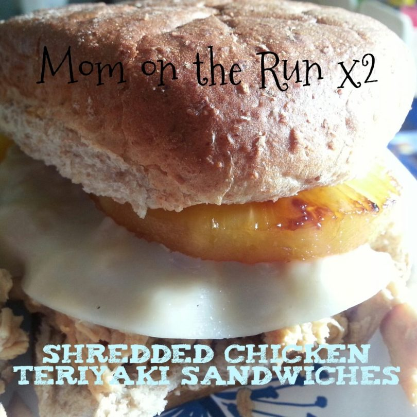 Shredded Chicken Teriyaki Sandwiches Mom on the Run x2