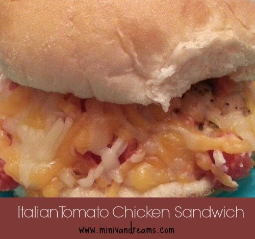 Italian Tomato Chicken Sandwich via Mini Van Dreams
