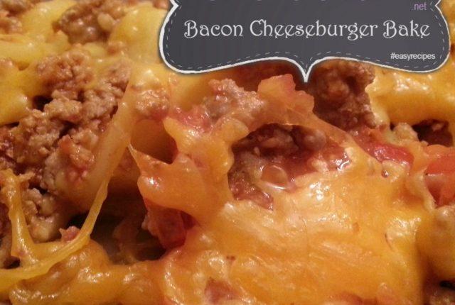 bacon cheeseburger bake