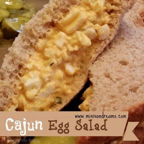 Cajun Egg Salad via Mini Van Dreams #recipes #easyrecipes