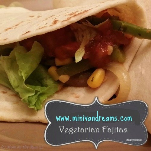 Vegetarian Fajitas via Mini Van Dreams