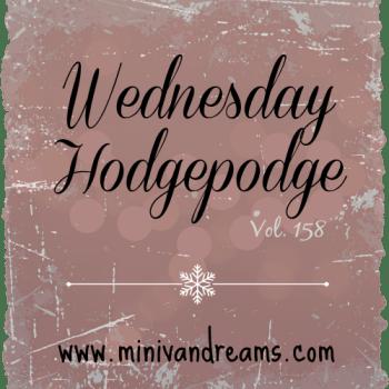 Wednesday Hodgepodge Vol. 158 via www.minivandreams.com