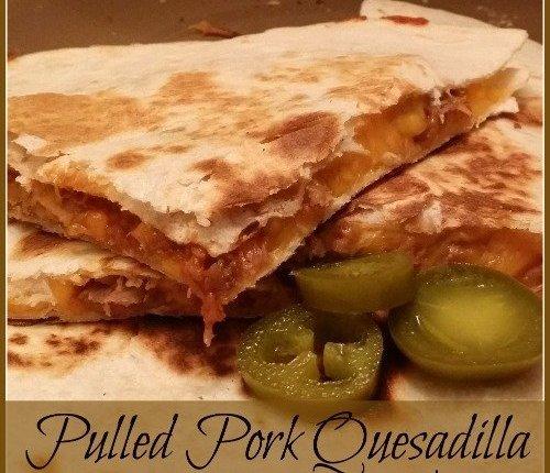Pulled Pork Quesadilla via Mini Van Dreams