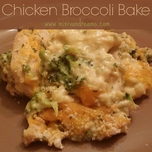 Chicken Broccoli Bake via Mini Van Dreams #recipes #easyrecipes #recipesforchicken