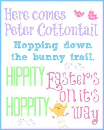 Free Easter Subway Art via Mini Van Dreams #Easter #Easterideas