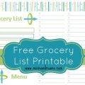 Grocery List and Menu Planner Free Printable via Mini Van Dreams #freeprintables #printables