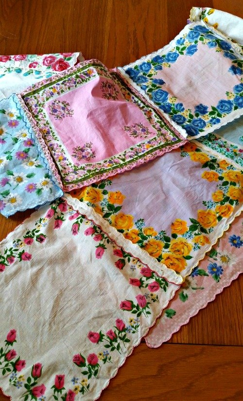 Hankie Table Runner via Mini Van Dreams