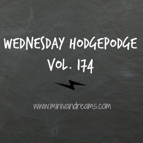 Wednesday Hodgepodge Vol. 174 | Mini Van Dreams