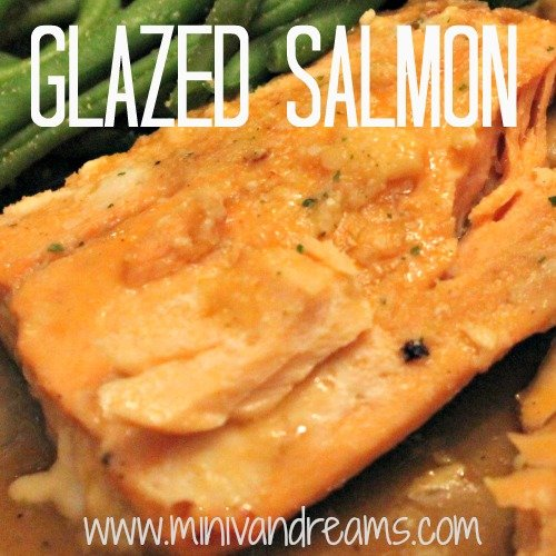 Glazed Salmon via Mini Van Dreams #easyrecipes #recipes #recipesforseafood #ticklemytastebuds