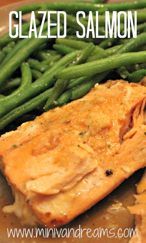 Glazed Salmon via Mini Van Dreams #easyrecipes #recipes #recipesforseafood #ticklemytastebuds