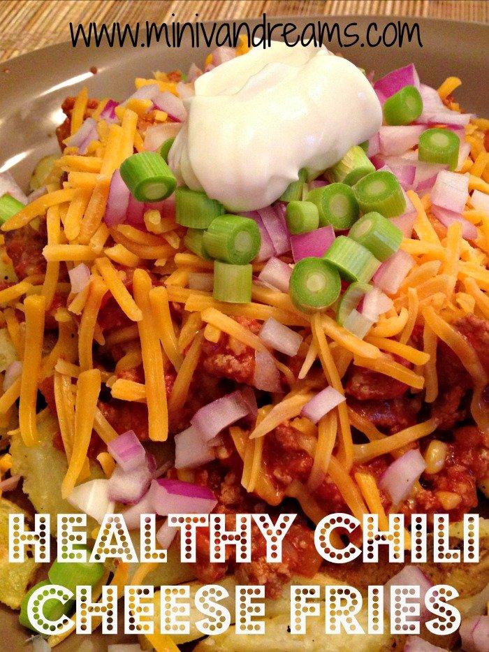 Healthy Chili Cheese Fries | Mini Van Dreams #recipes #healthy #ticklemytastebuds