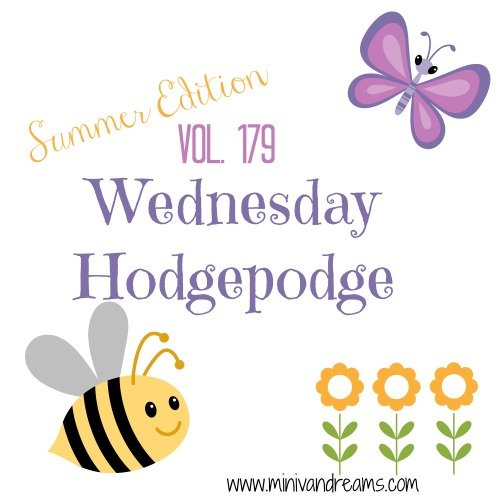 Wednesday Hodgepodge Vol. 179 | Mini Van Dreams #wednesdayhodgepodge