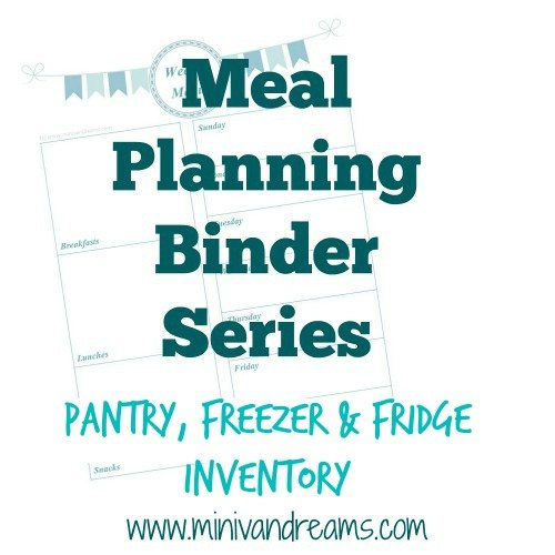Meal Planning Binder Series:  Food Inventory