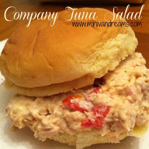 Company Tuna Salad | Mini Van Dreams #easyrecipes #recipesforseafood #quickrecipes #recipesforsandwiches