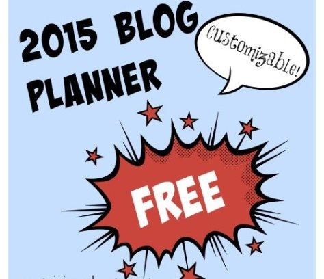 Free 2015 Blog Planner | Mini Van Dreams
