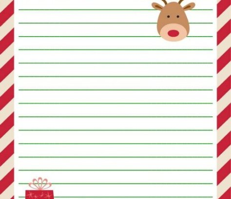 Letter to Santa Free Printable   Mini Van Dreams