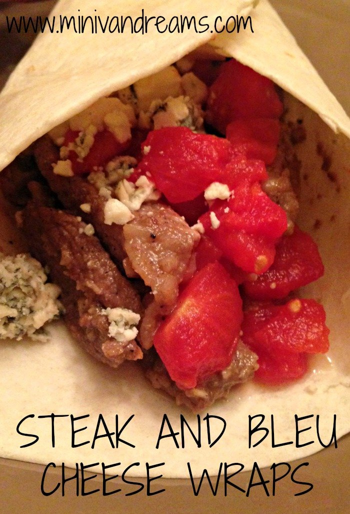 Steak and Bleu Cheese Wraps | Mini Van Dreams